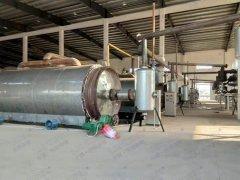 江西年处理5万吨轮胎炼油项目现场投产